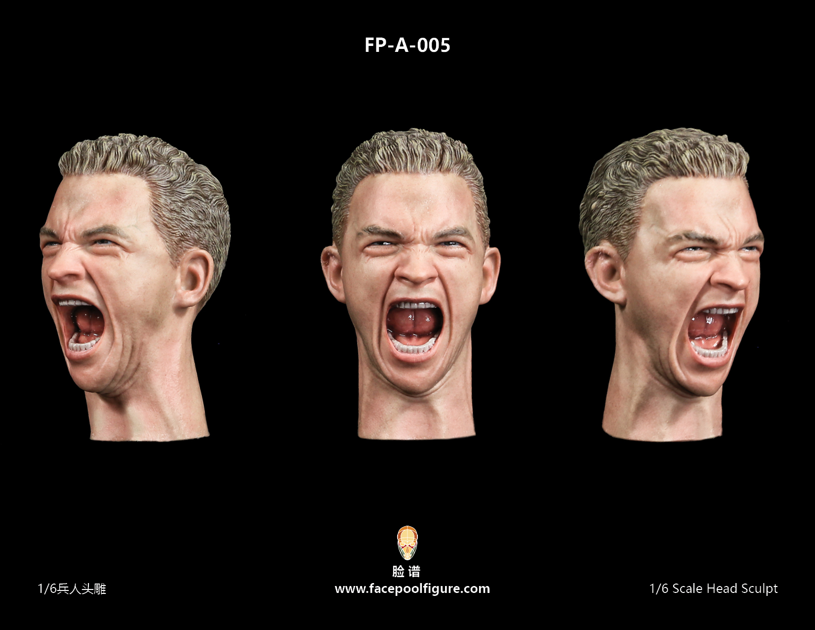 FacepoolFigure 1/6 Male Head Sculpt With Expression FP-A-005