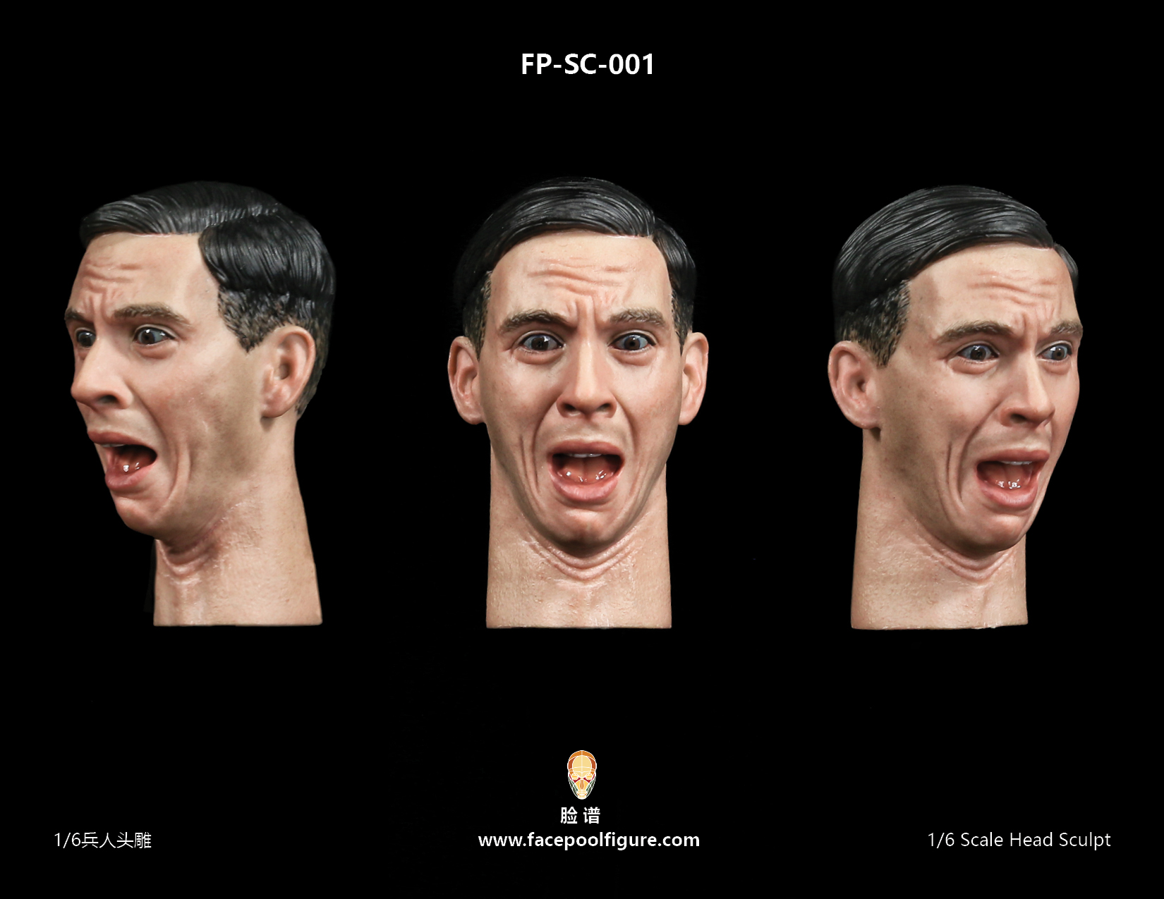 FacepoolFigure 1/6 Male Head Sculpt With Expression FP-SC-001